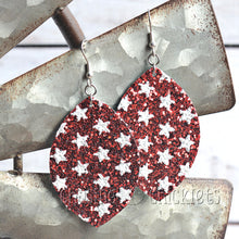 4th of July Earrings - Glitter Stars