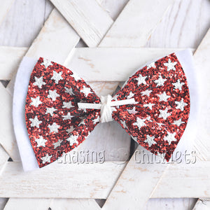 4th of July *Glitter* Hair Bows