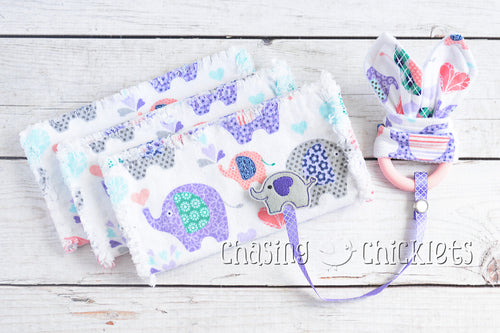 Lovey Elephant Baby Items