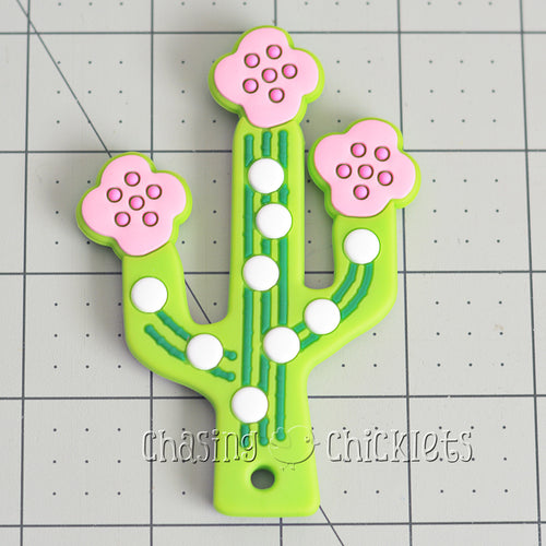 Pink Cactus Blossom Silicone Teether