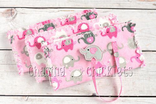 Pink Elephant March Baby Gift Set
