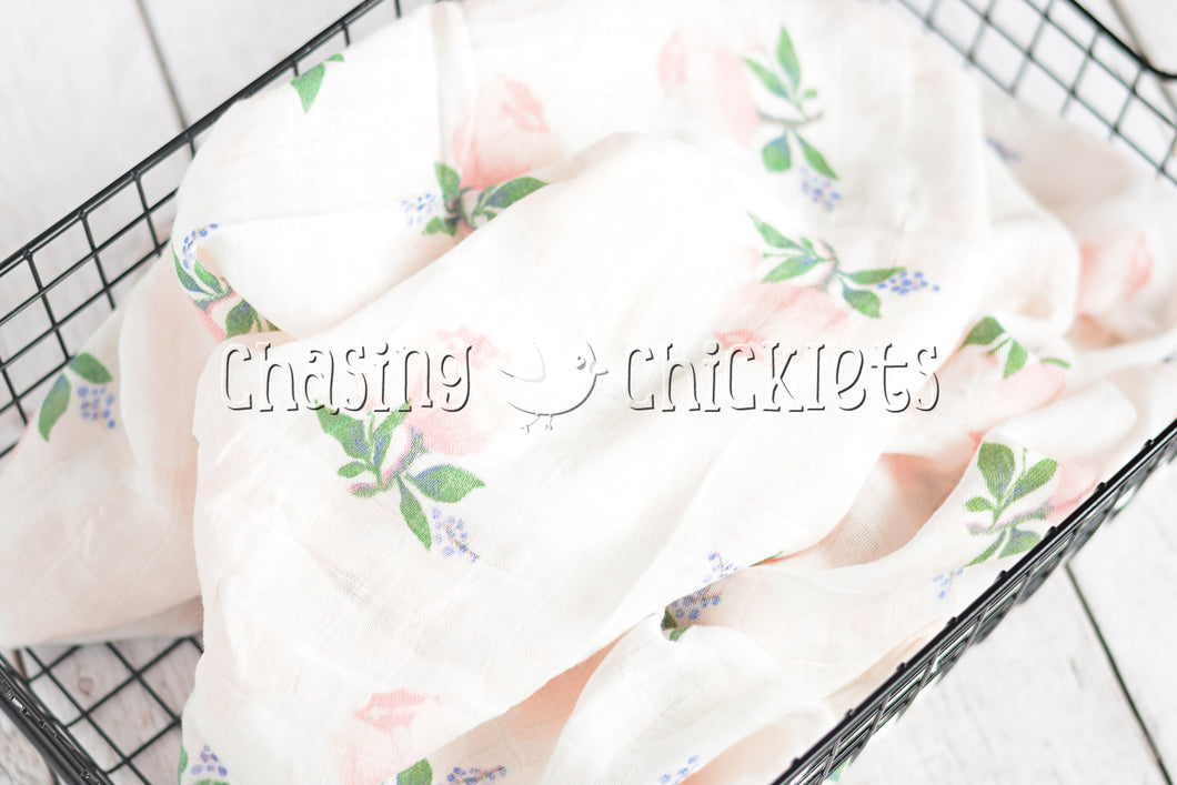 Sweet Blossoms Muslin Swaddle