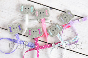 Pacifier/Teether Clips! Elephants Galore!