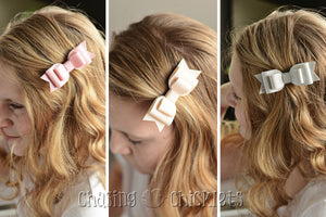 VintageTriple Layer Leather Bows