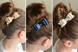 Elegance Triple Layer Leather Bows