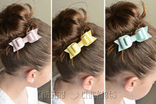 Watercolors Triple Layer Leather Bows