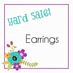 Earrings! Yard Sale!