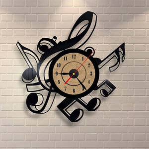 Living Room Vintage Retro Vinyl Wall Clock Musical Themes CD Record Clock Large 3D Home Decor Watch - Home Harmony