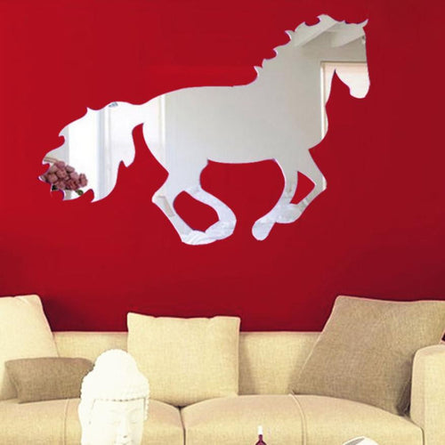 Super Deal 2016 wall stickers home decor horse mirror decorative wall sticker wall poster wallstickers wall muursticker