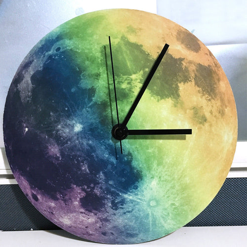 New Luminous Moonlight Wall Clock 3D Watch Moon Glow In The Dark Clock wall stickers home decor living room for kids rooms