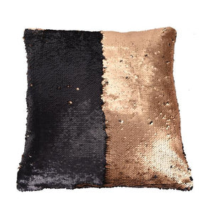Double Color Reversible Mermaid  Glitter Pillow Case - Home Harmony