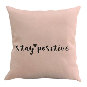 Letter Printing Dyeing Sofa Bed Home Decor Pillow Case Cushion Cover