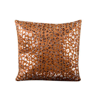 Leopard Bronzing Sofa Bed Home Decor Pillow Case Cushion Cover