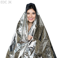 Outdoor Waterproof Life-saving Military Sos Emergency Blanket Survival Gear Rescue Insulation Curtain Blankets Silver 210*140CM