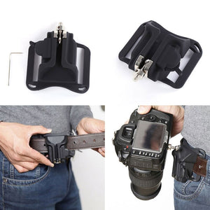Gizcam Quick Fast Loading Camera Photo Holster Waist Belt Buckle Button Straps Accessories Camera Belt Button for DSLR Camera