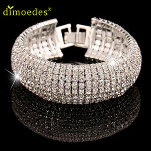 Bracelets Diomedes Gussy Life wholesale Rhinestone Stretch Multilayer Bracelet  for Wedding Prom Party Bracel Jan19