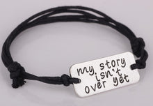"2018 New Arrival ""My story isn't over yet"" Bracelet AliExpress Best Selling Handmade Bracelets Jewelry for Men and Women YP2538"