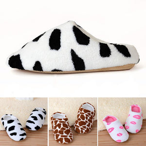 Hot Selling Style Fashion Shoes Women Warm Winter Plush Indoor Home Soft Slippers Shoes Sandals