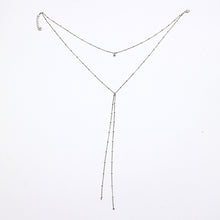 Sexy Beads Chain Lariat Choker Necklaces Long multilayer Water Drop Simple party kolye Statement Jewelry for Women collier femme
