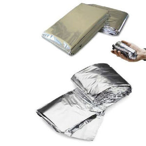 2017 New Survival Emergency Keep Warm Gear Rescue Space Silver Mylar Outdoor Thermal Blanket Wrap