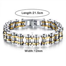 LASPERAL Punk Rock Male Bracelet Biker Bicycle Cuff Bracelets For Men Motorcycle Link Chain Cool Bangles Stainless Steel Jewelry