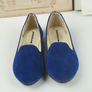Hot New Woman Fashion Pure Color Ballet Flats Flat Shoes Ballerinas Casual Shoes Loafers