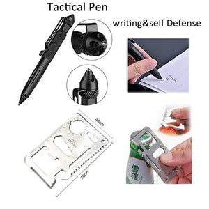 10 In 1 Emergency Survival Gear Professional First Aid Kit Outdoor Camping Hiking Survival Tools Whistle Flashlight Tactical Pen