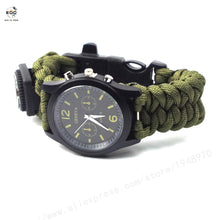 EDC.1991 Outdoor Camping Compass Watch Whistle Survival Gear Paracord Cutting Knife Rescue Rope SOS Equipment Tools Christmas
