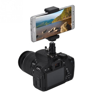 Camera Phone Bracket Holder Clip Tripod Mount Adapter with 360 Ball Head for iPhone Samsung Universal