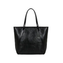 YBYT brand 2018 new fashion casual glossy alligator totes large capacity ladies simple shopping handbag PU leather shoulder bags
