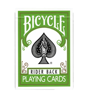 Bicycle Rider Back Playing Cards Green