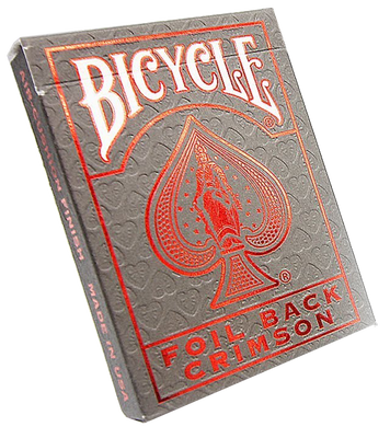 Bicycle Foil Back Crimson Playing Cards