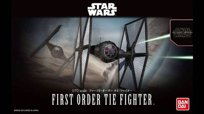 The First Order Tie Fighter 1/72 scale