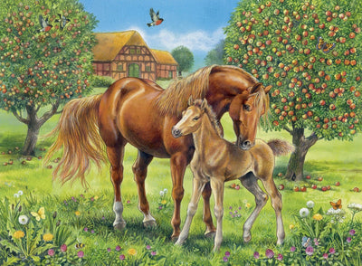 Horses in the Field 100pc