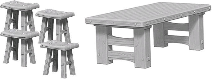 Wizkids Wooden table and stools
