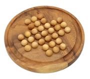 Solitaire Round Wooden with Balls