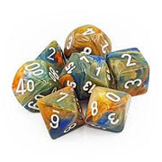 Dice set 4 20 Festive Autumn White