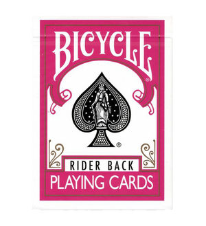 Bicycle Rider Back Playing Cards Pink