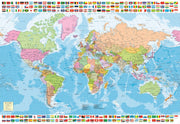 Political World Map 1500pc