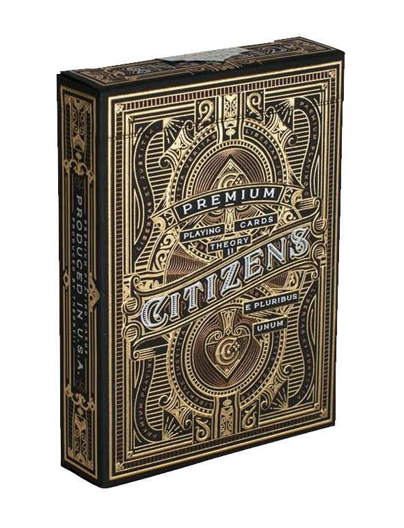 Citizens Luxury Gold Foil Playing Cards