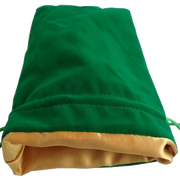 MDG Large Velvet Dice Bag Green