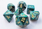 Dice set 4 20 Scarab Jade Gold