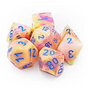 Dice set 4 20 Festive Allusion Blue