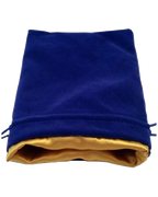 MDG Large Velvet Dice Bag Blue
