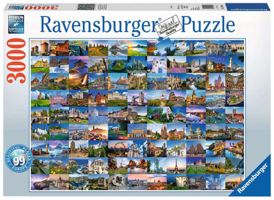 99 Beautiful Places of Europe 3000pc