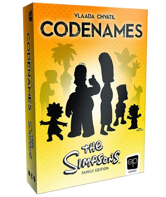 Codenames Simpsons Board Game