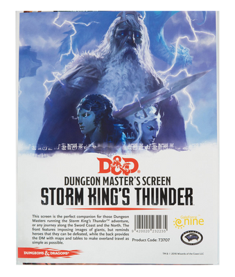 D&D Storm Kings Thunder DM screen