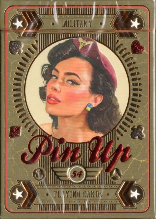 Military Pin Up Playing Cards
