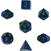 Dice set 4 20 Gemini Blue Green gold