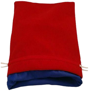 MDG Large Velvet Dice Bag Red